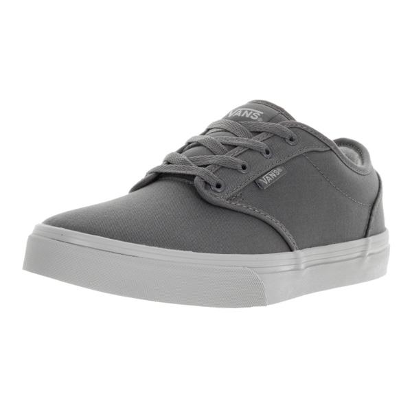 Vans Kids' Atwood Grey/ Light Grey Check Liner Skate Shoes