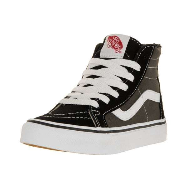 Vans Kids' Sk8-Hi Zip Black/Charcoal Skate Shoes