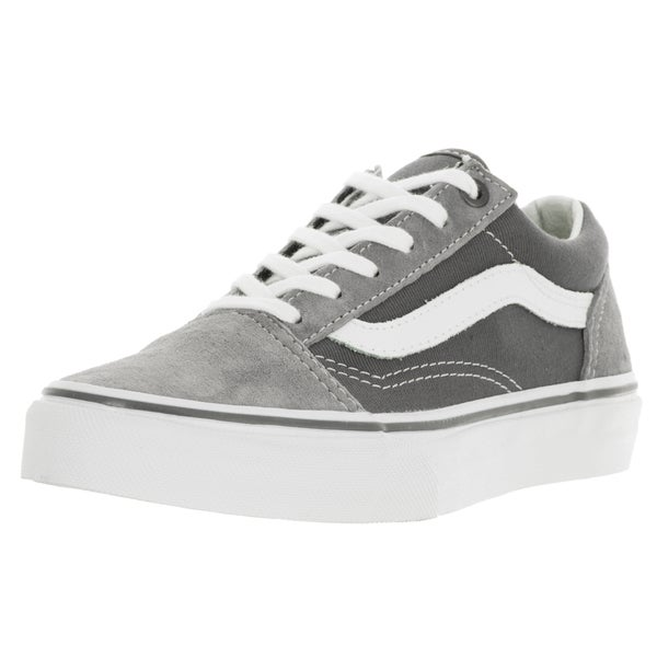 Vans Kid's Old Skool Frost Grey and Pewter Suede Skate Shoe
