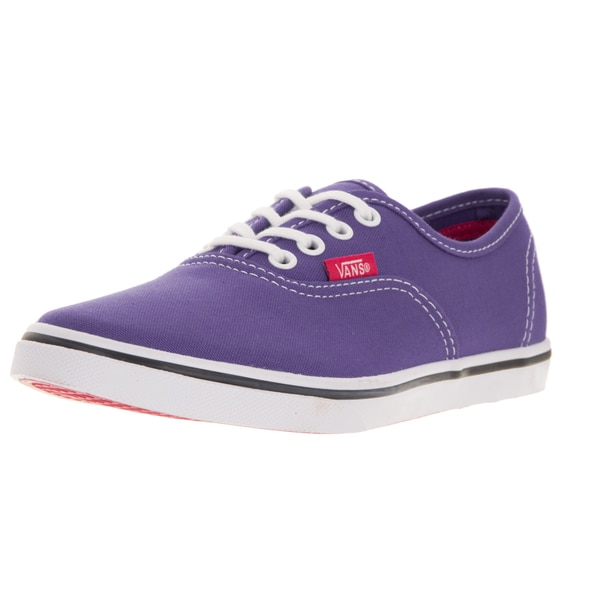 Vans Kids Authentic Lo Pro Purple Iris/Rosered Casual Shoe