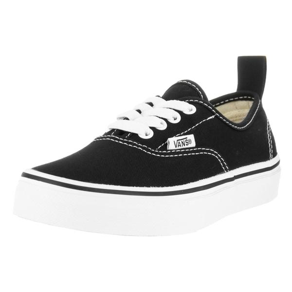 Vans Kids Authentic Elastic Lace Black/White Skate Shoe