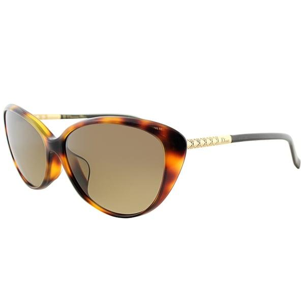 Dior Piccadilly XLZ Grey Havana Plastic Cat-Eye Grey Gradient Lens Sunglasses