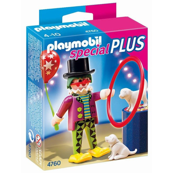 Playmobil Unisex Clown With Dog Show Figure Set