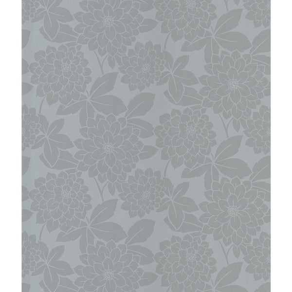 Souci Silver Fun Floral Wallpaper