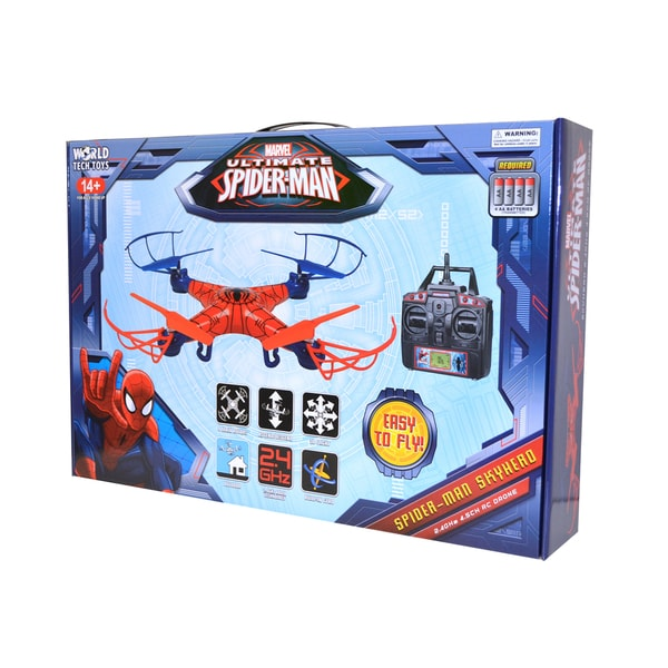 World Tech Toys Unisex Marvel Licensed Spider-Man Sky Hero 2.4GHz 4.5CH RC Drone 22147218