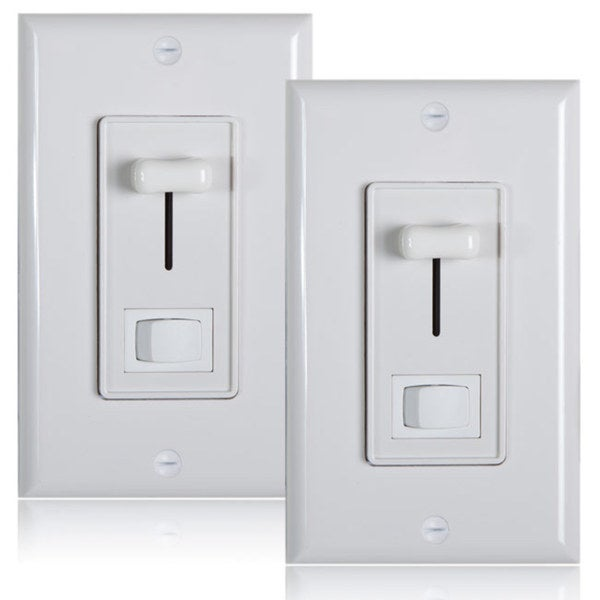 Maxxima Style Plastic 600-watt 3-Way Electrical Dimmer (Set of 2)