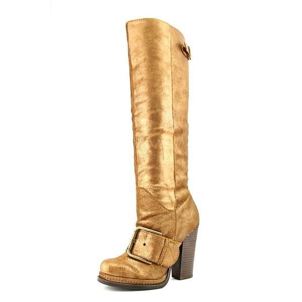 Nine West Women's Throwdown Golden Leather Boots
