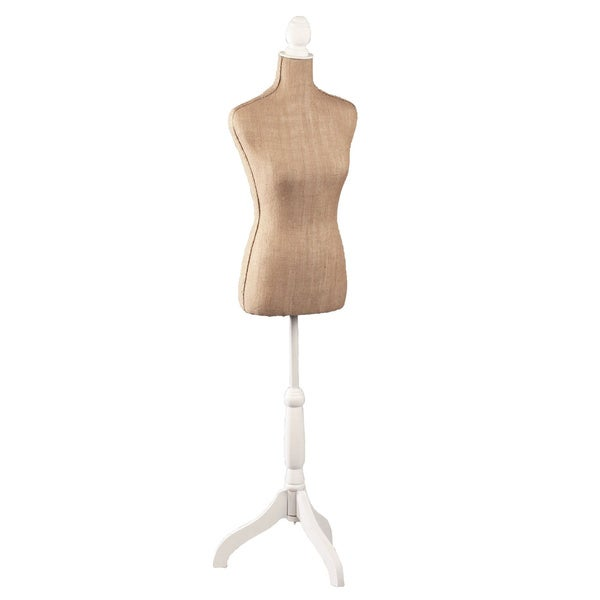 Tan Natural Jute and Styrofoam 64-inch Dress Form