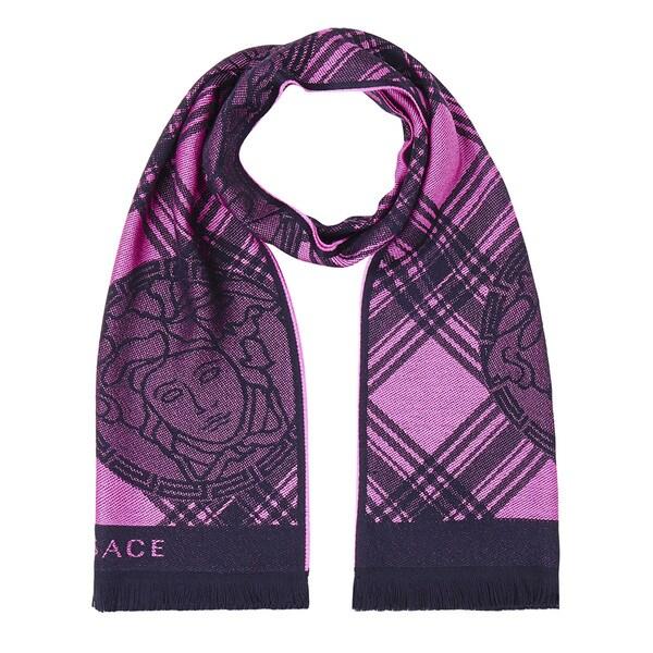 Versace Wool Pink Scarf
