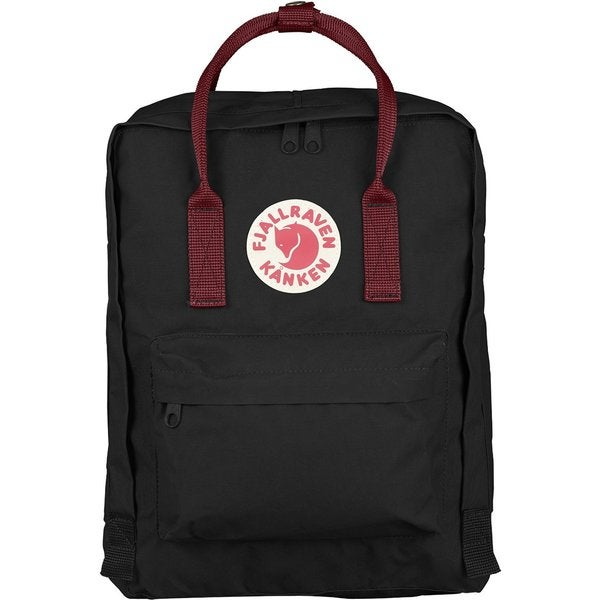 Kanken Black/Ox Red Polyester Daypack Backpack