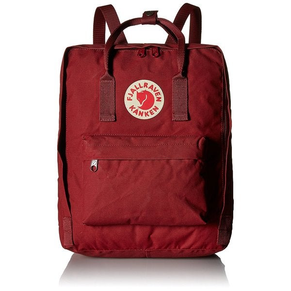 Kanken Ox Red Polyester and Vinyl Daypack Backpack