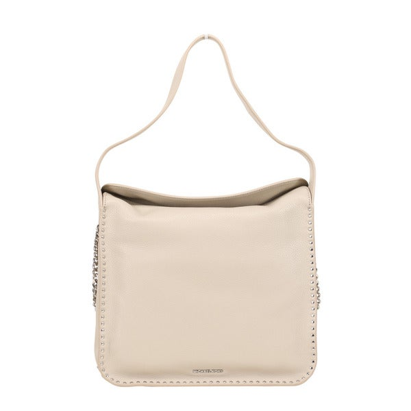Michael Kors Astor Large Cement Leather Hobo Handbag