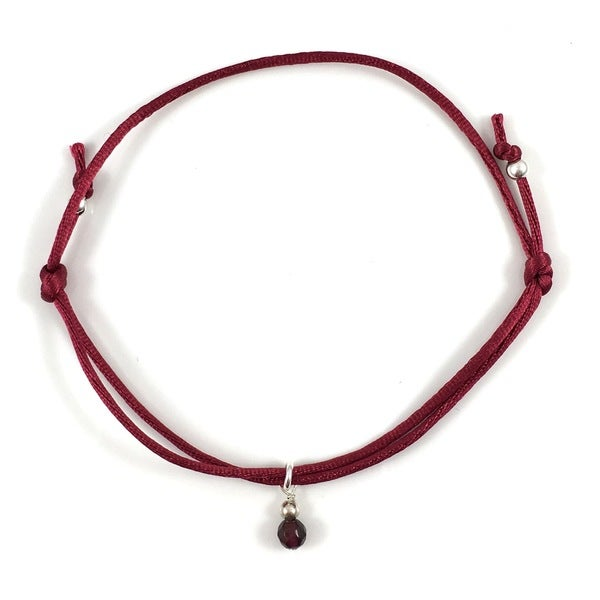 iCreate Garnet Adjustable Bracelet