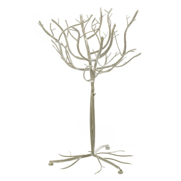 White Metal 26-inch Decorative Tree
