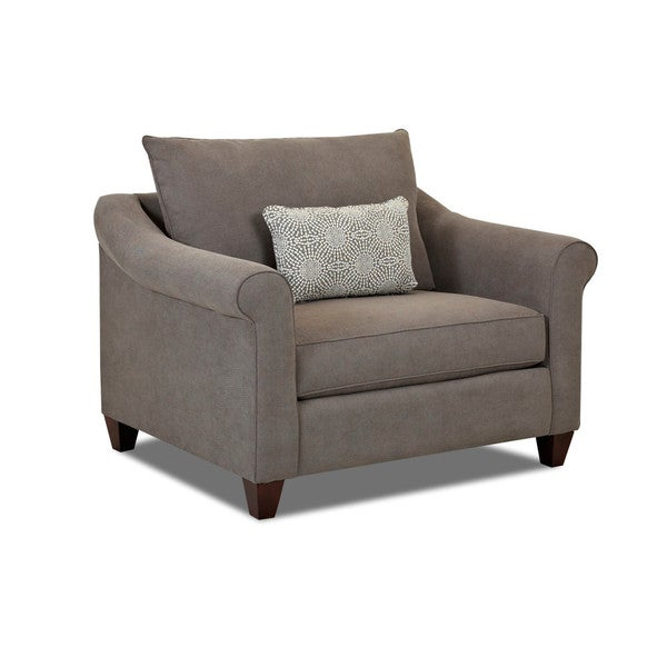 Klaussner Furniture Diego Grey Fabric Oversized Armchair