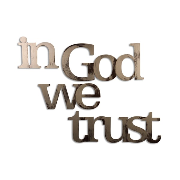 Letter2Word In God We Trust, Inspirational Wall Decor