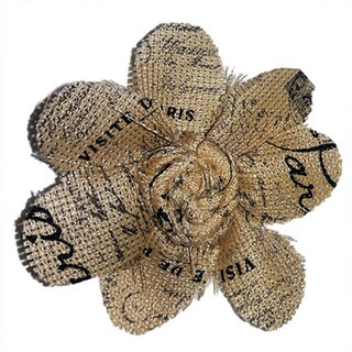 Fabric Print Flower Brooch