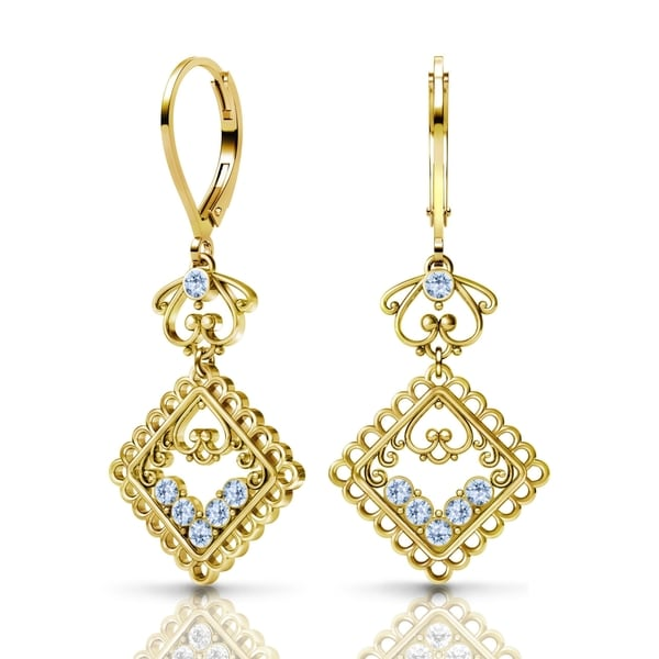 Sterling Silver Earrings by Lucia Costin Swarovski Element Crystals 22159823