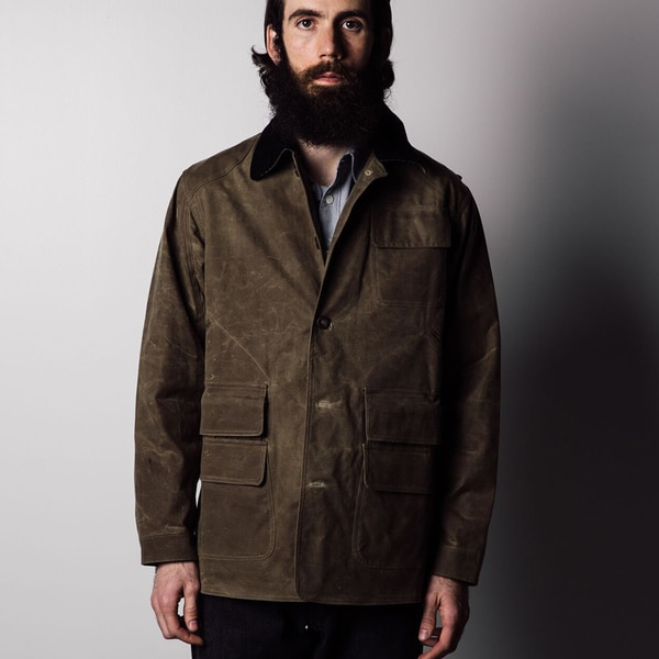 1791 Supply & Co Men's Brown Cotton Waxed Fowl Jacket