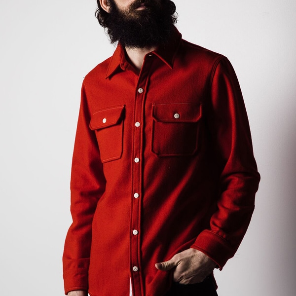 1791 Supply & Co Men's Red Wool Hunting Shirt