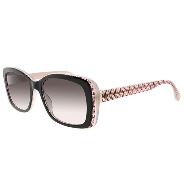 Fendi FF 0002 7PH/K8 Brown Red Plastic Rectangle Brown Gradient Lens Sunglasses