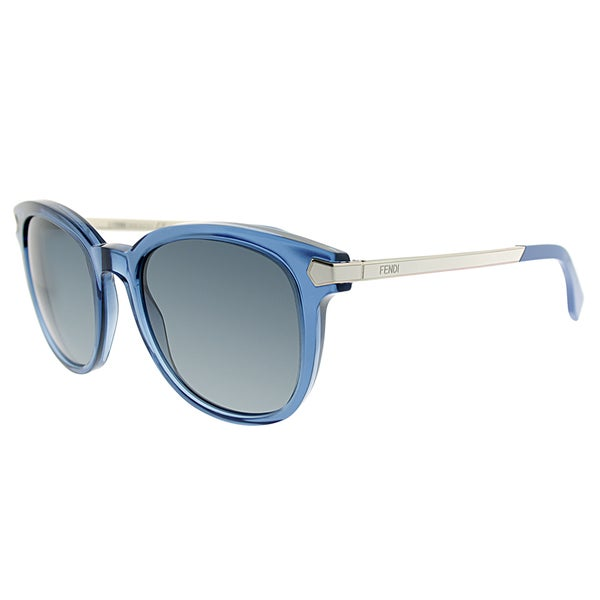 Fendi FF 0021 7UP/HD Transparent Blue Plastic Square Grey Gradient Lens Sunglasses