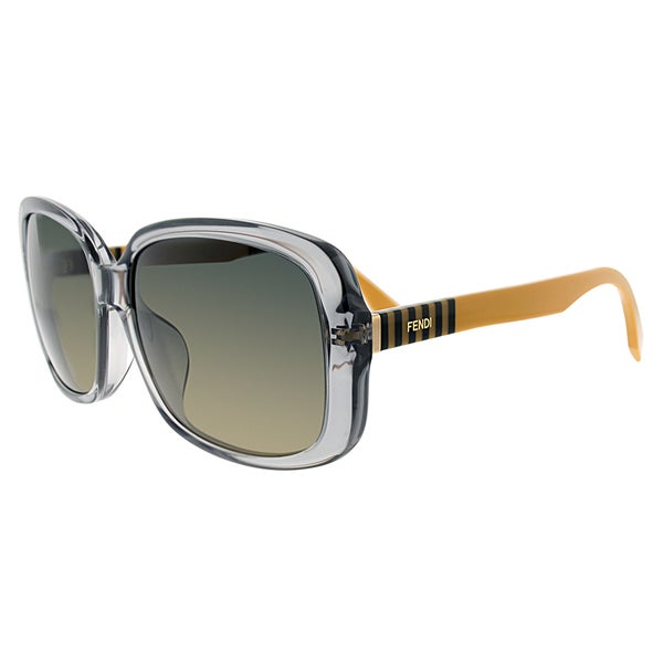 Fendi FF 0071 MQE/R4 Transparent Grey Plastic Square Grey Gradient Lens Sunglasses
