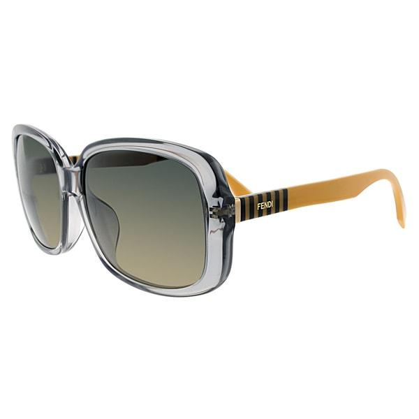 Fendi FF 0071 MQE/R4 Transparent Grey Plastic Square Grey Gradient Lens Sunglasses