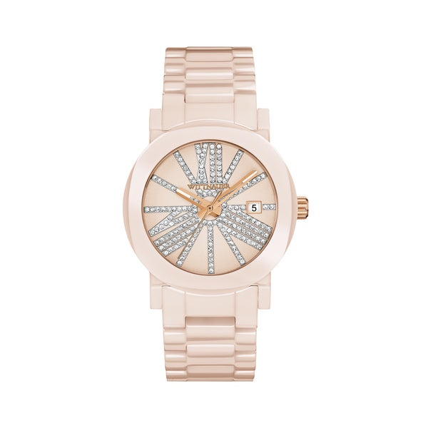 Ladies Wittnauer Pink CA Bracelet Watch WN4071