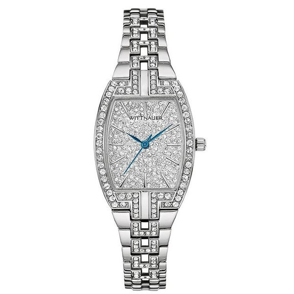 Ladies Wittnauer Silver PAVE Bracelet Watch WN4016
