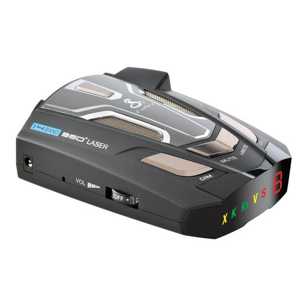 Ultra-High Performance Radar/Laser Detector with UltraBright Data Display and Voice Alert