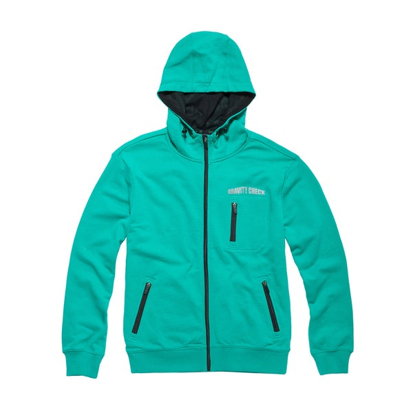 Gravity Check Men's Puncheur Sea Green Cotton Hoodie