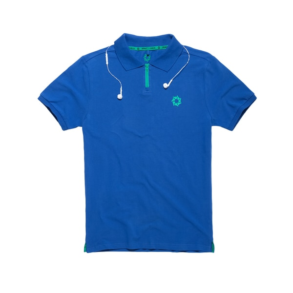 Gravity Check Men's Omnium Turkish Sea Blue Cotton Polo Shirt