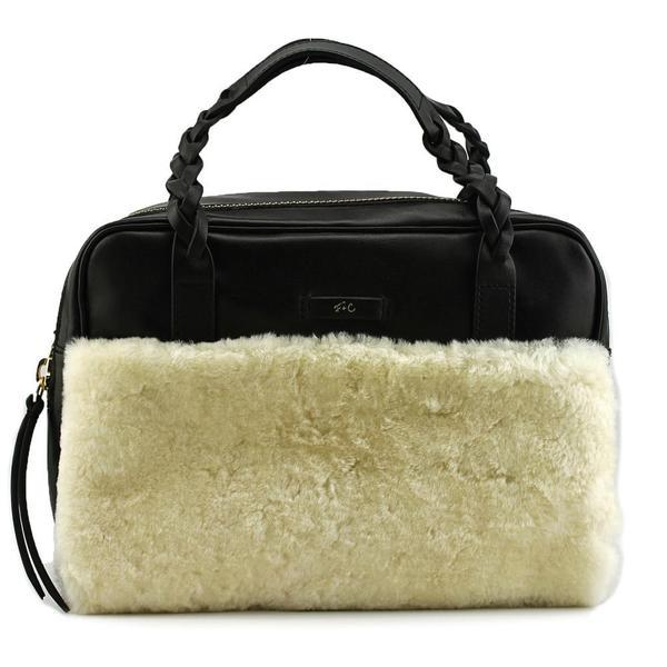 Foley + Corinna Women's 'Cable Satchel' Black Leather Handbags