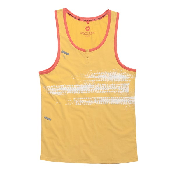Gravity Check Men's Tempo Mimosa Yellow Cotton Tank Top