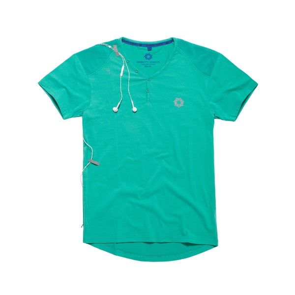 Gravity Check Men's Keirin Sea Green Cotton T-shirt