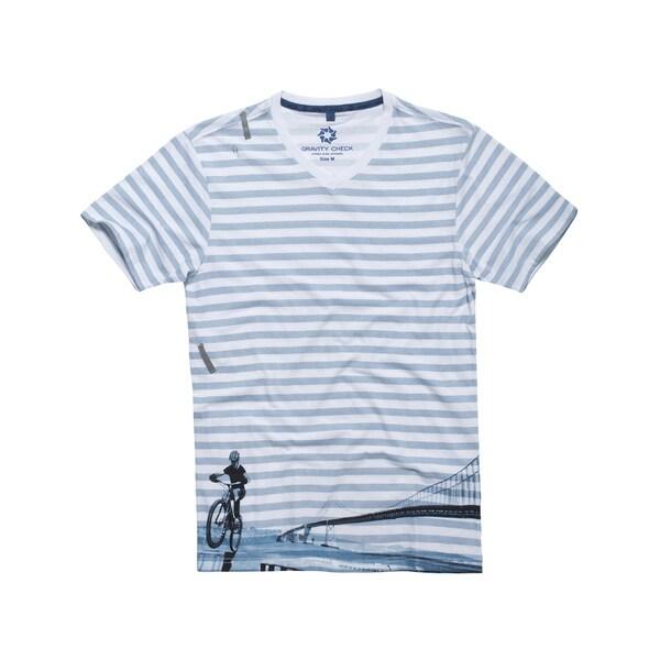 Gravity Check Men's Paceline White Cotton T-shirt
