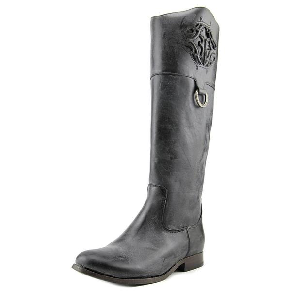 Frye Women's Melissa Logo Black Leather Boots