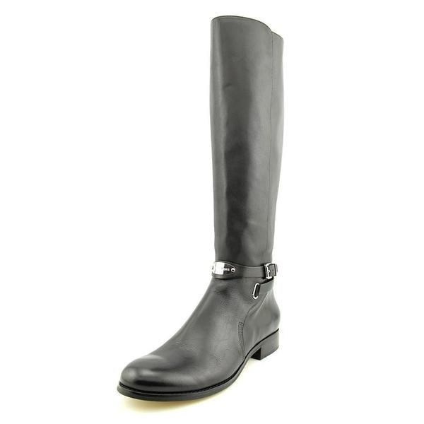 Michael Michael Kors Women's Arley Riding Boot Black Leather Boots