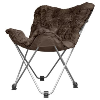 Cocoon Long Hair Faux Fur Butterfly Chair