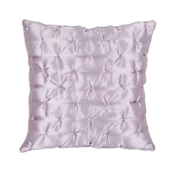 Evelyn Purple Satin Euro Sham Throw Pillow