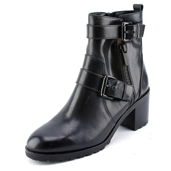 Michael by Michael Kors Women's Gretchen Ankle Boot Black Leather Boots