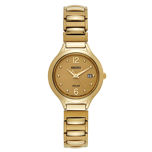 Seiko Women's Core Yellow Gold-plated Stainless Steel Watch 22187299