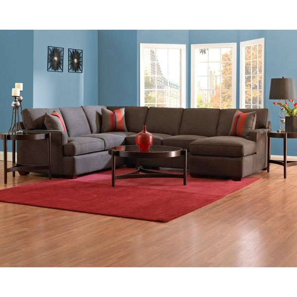 Loomis Contemporary Sectional - Charcoal