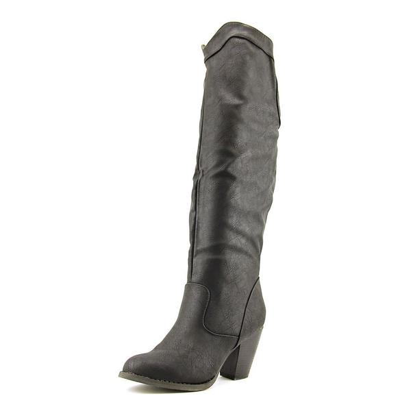 Vybe Women's Rodeo Black Faux Leather Boots