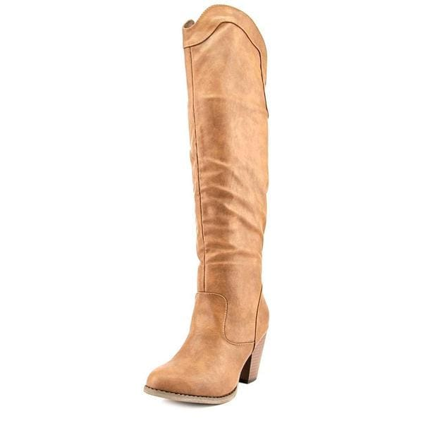 Vybe Women's Rodeo Brown Faux Leather Boots
