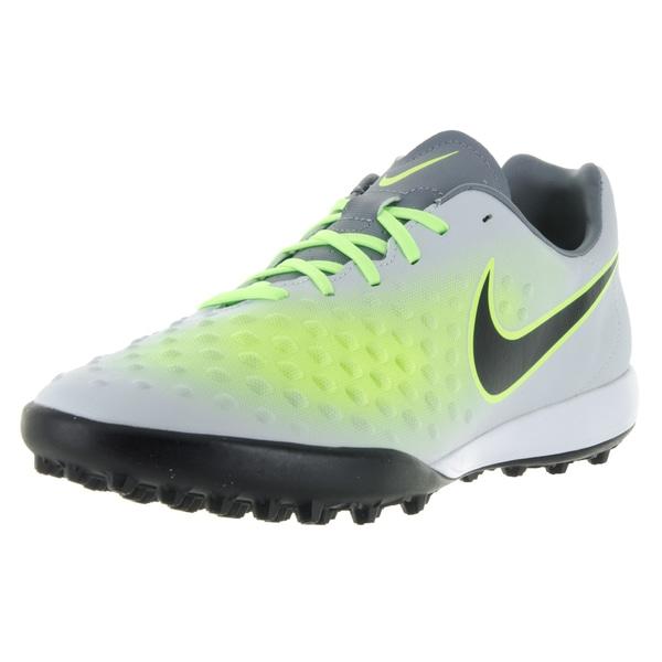 Nike Men's Magistax Onda II Tf Pr Pltnm/Blk/Ghst Grn/Hypr Trq Turf Soccer Shoe