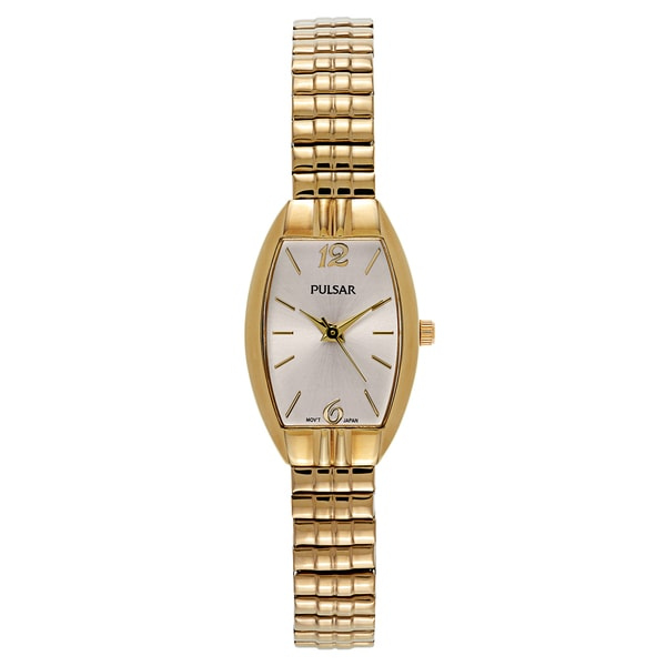 Pulsar Women's Traditional Yellow Gold-plated Stainless Steel Watch 22188235