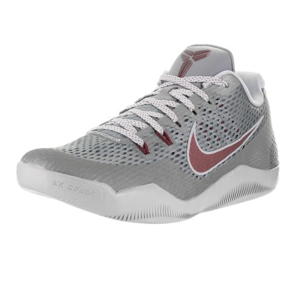 Nike Men's Kobe XI Cool Grey/Team Red Wolf Grey Basketball Shoe