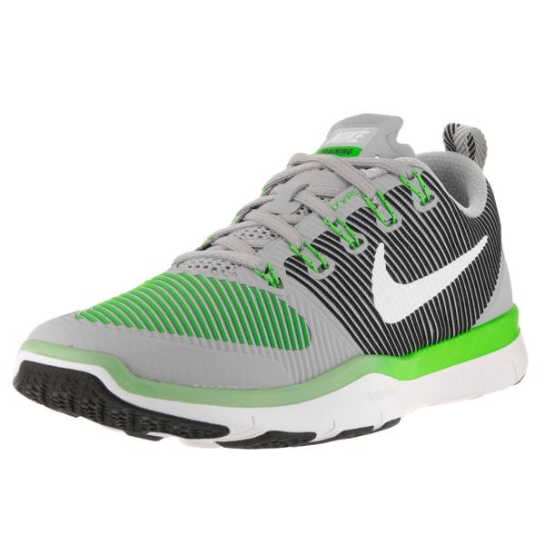 Nike Men's Free Train Versatility Wolf Grey/White Rage Green Blk Training Shoe